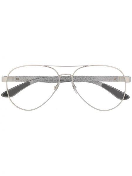 Прямые очки авиаторы металлические хаки Ray-ban