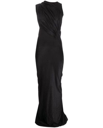 Czarna sukienka asymetryczna Rick Owens