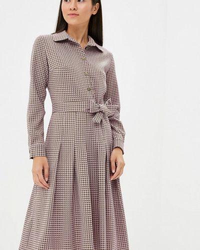 Платье розовое осеннее Maison De La Robe