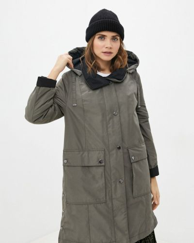Зеленая утепленная куртка Dixi Coat