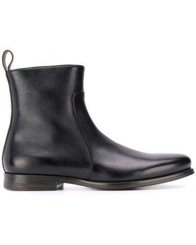 Ботильоны кожаный для обуви Santoni