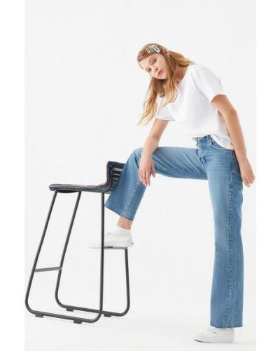 Синие с завышенной талией джинсы свободного кроя Mavi