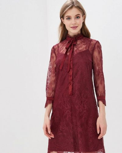 Вечернее платье бордовый красный Lusio