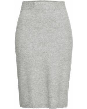 Вязаная юбка с поясом Bonprix