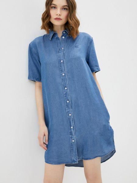 Джинсовое платье синее весеннее Calvin Klein Jeans