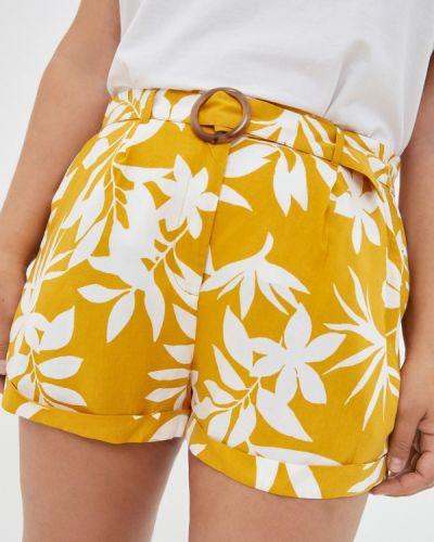 Желтые повседневные шорты Violeta By Mango