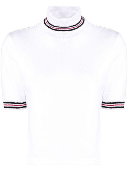 Golf krótkie rękawy biały brązowy Thom Browne