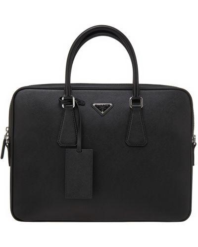 Кожаная сумка замшевая Prada
