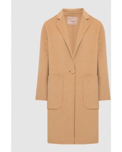 Бежевое пальто Twin-set