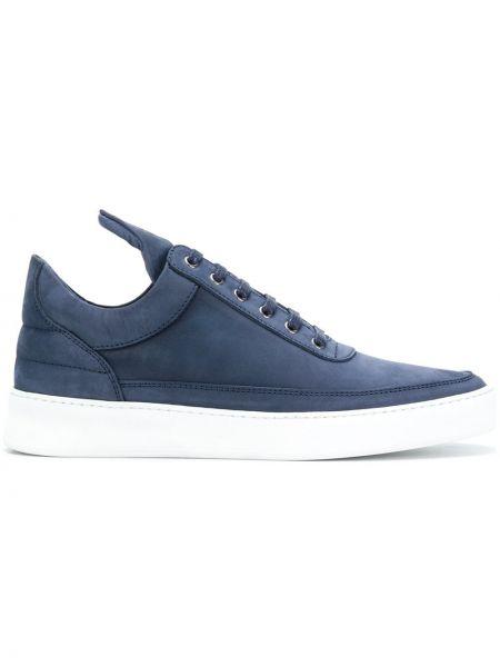 Кожаные кроссовки - синие Filling Pieces
