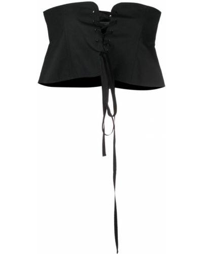 Кружевной черный корсет на шнуровке Philosophy Di Lorenzo Serafini