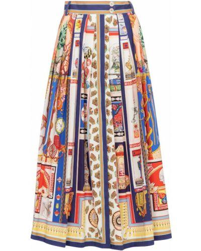 Ватная хлопковая юбка макси стрейч Etro