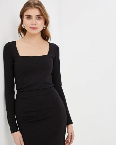 Блузка с длинным рукавом весенний черная Imocean