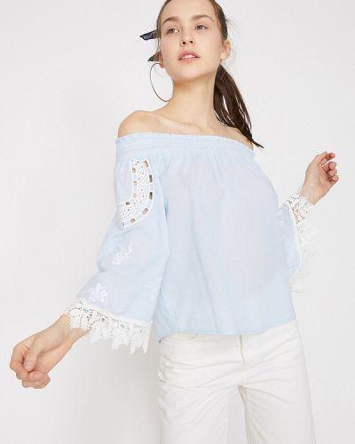 Блузка с открытыми плечами турецкий весенний Koton