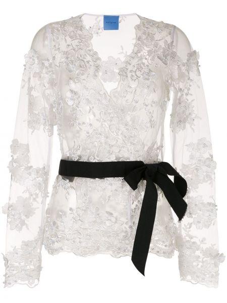 Блузка с длинным рукавом с запахом с V-образным вырезом Macgraw