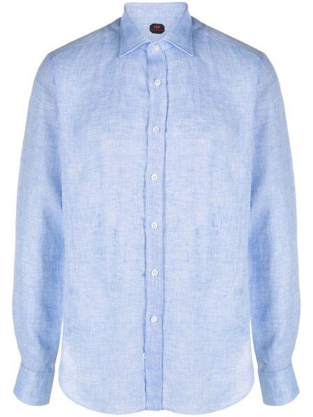 Niebieska koszula z długimi rękawami materiałowa Mp Massimo Piombo