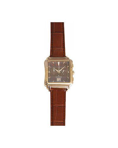 Часы с кожаным ремешком швейцарские коричневый Charmex