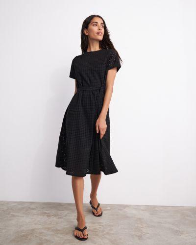 Свободное черное платье свободного кроя 12storeez
