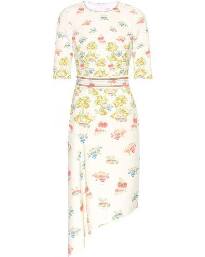 Платье с поясом в полоску с цветочным принтом Peter Pilotto