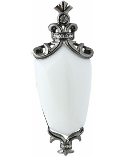 Серебряная подвеска с ониксом белая Jewelry Box