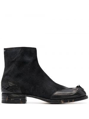 Черные кожаные ботинки квадратные Maison Margiela