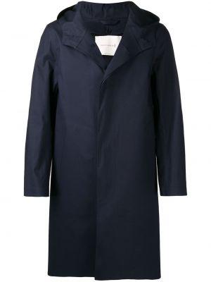 Шерстяное пальто - синее Mackintosh