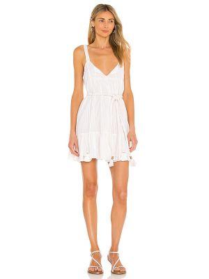 Платье мини с декольте - белое Karina Grimaldi