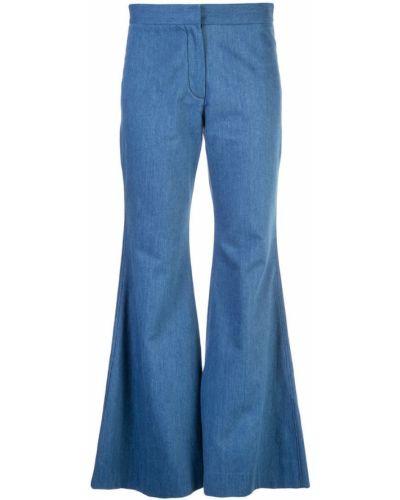 Расклешенные джинсы классические с поясом на пуговицах Derek Lam