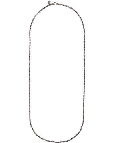 Ожерелье черный серебряный John Hardy