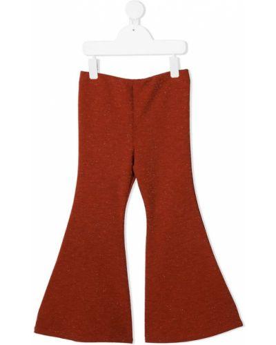 Оранжевые расклешенные брюки с поясом Mariuccia Milano Kids