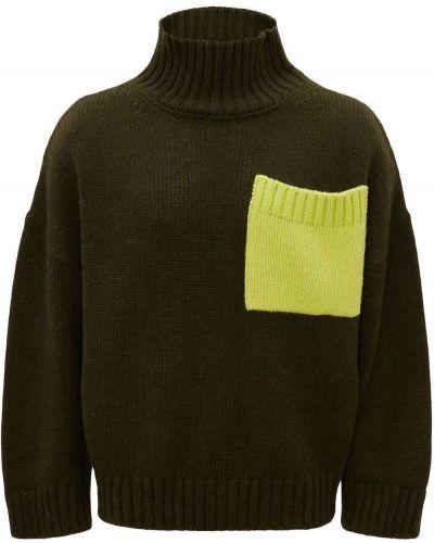 Zielony sweter z akrylu Jw Anderson