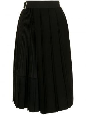 Юбка миди с завышенной талией - черная Junya Watanabe