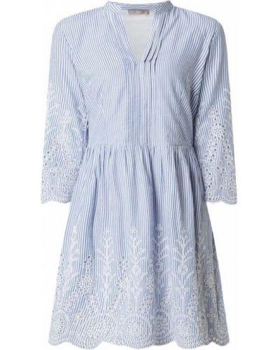 Niebieska sukienka rozkloszowana w paski Jake*s Collection