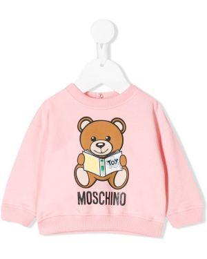 Свитер эластичный свободного кроя Moschino Kids