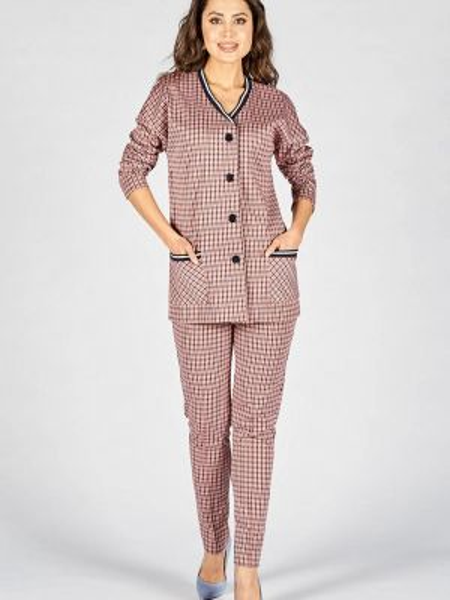 Брючный костюм розовый Eliseeva Olesya