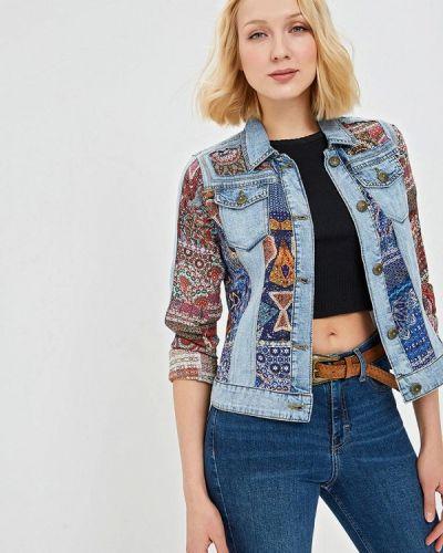 Джинсовая куртка весенняя голубой Desigual
