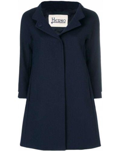 Пальто расклешенное однобортное Herno