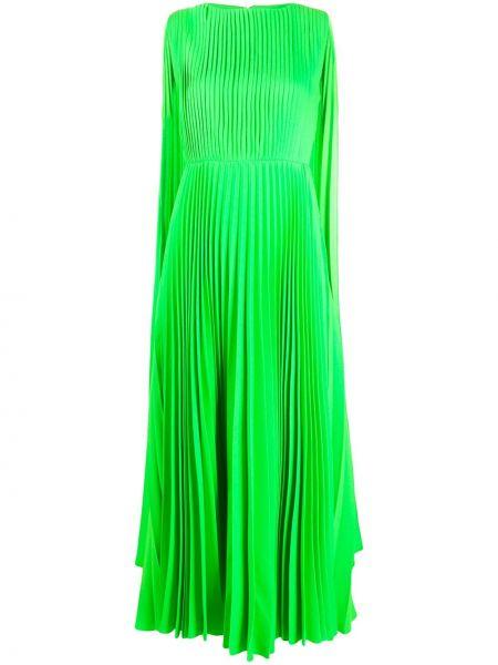 Платье плиссированное на молнии Valentino