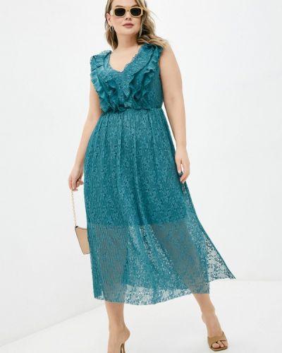 Повседневное бирюзовое платье Violeta By Mango