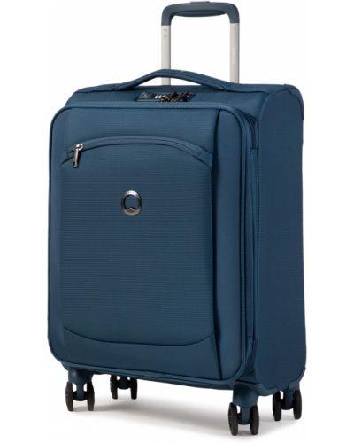 Niebieska walizka materiałowa Descente