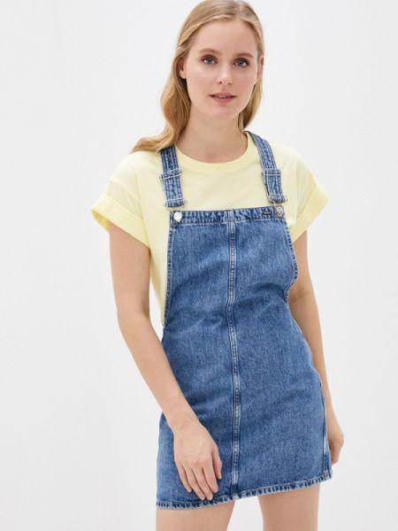Синее джинсовое платье Pepe Jeans