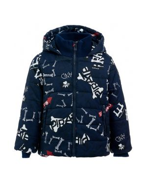 Зимняя куртка на синтепоне синий Button Blue
