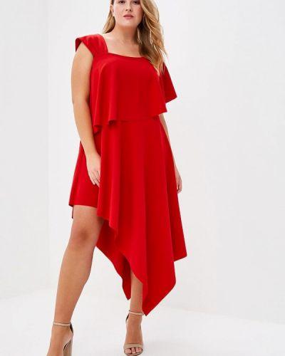Красное платье Goddiva Size Plus