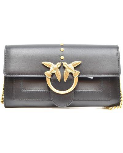 Czarny złoty portfel Pinko