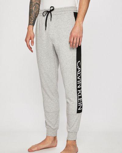 Piżama długo szary Calvin Klein Underwear