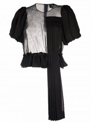 Блузка короткая - черная Simone Rocha