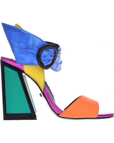 Босоножки на каблуке кожаные Kat Maconie