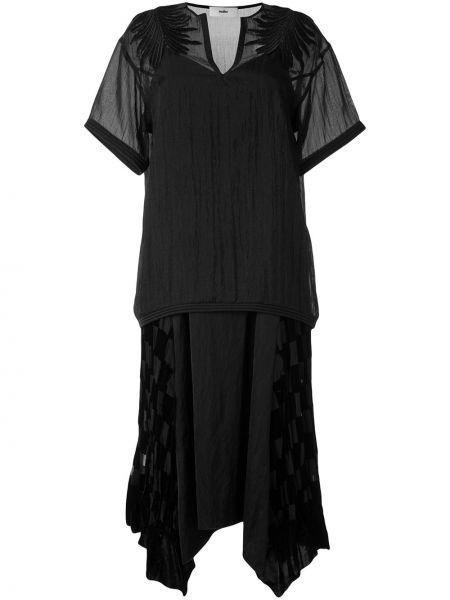 Ажурное платье мини с воротником свободного кроя на молнии Muller Of Yoshiokubo