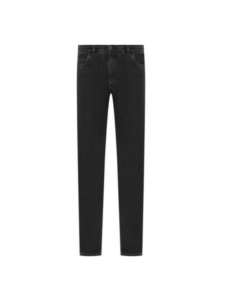 Хлопковые серые джинсы с карманами Brioni