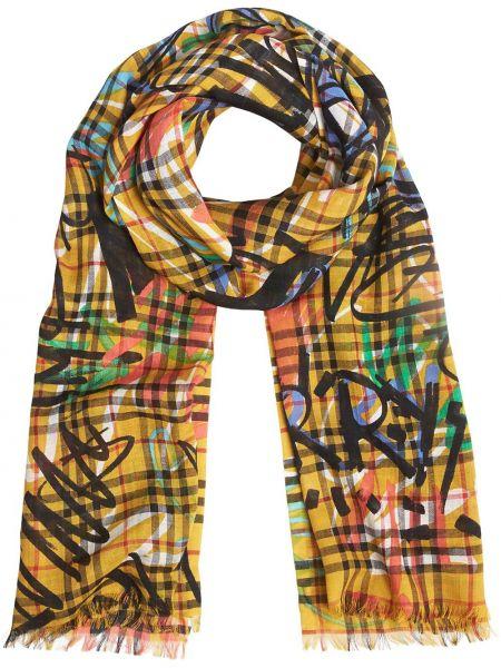 Желтый шелковый шарф Burberry